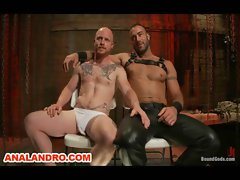 Pain and Masochism for Ropes Tied Gay Slave