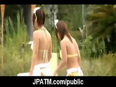 Young Japanese Teens Outdoor Exposing and Fucking 14