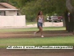 Emma Ingenious petite redhead babe running
