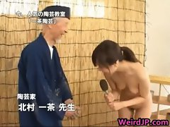 Real real real asian model is naked for educational