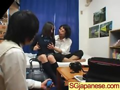 Asian In Schoolgirl Uniform Get Hard Nailed movie-12