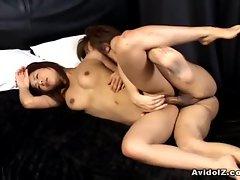 Akira Ichinose fucking and tit cumshot