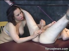 Handjob ends with prostate massage