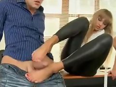Sex with teen in yummy wet look leggings