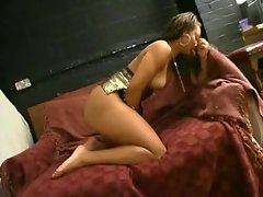 Sexy fuck slut in a sparkly dress and boots fucked