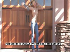 Alexa Tender Blonde Posing Naked