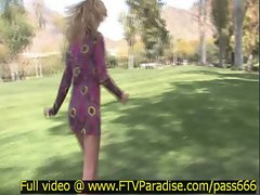 Lisa Tender Girl Flashing Outdoor