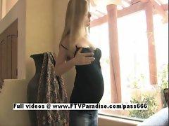 Leah lovely Pregnant girl Milking