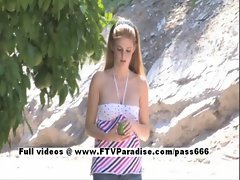 Faye easy going teenage sexy teen blonde in action