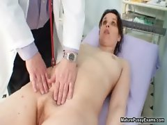 Horny doctor abusing his mature female