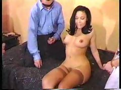 Attractive gal ends up in a gangbang