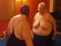 BBW babes wrestling for real
