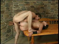 Mom in stockings likes his dick inside her