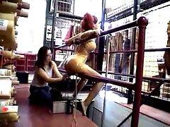 Amazing bondage and rubber fun