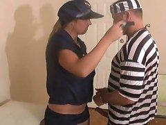 Prisoner fucks a lady cop and fucks her hard