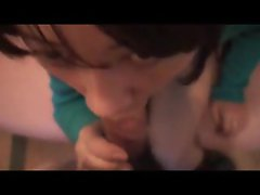 Horny Japanese girl blow and toy play