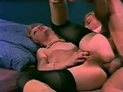 Incredible vintage scene with anal sex