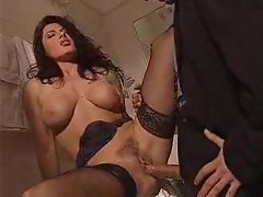 Big cock pounds her pussy hole