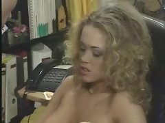 In his office he bones a very hot blonde girl