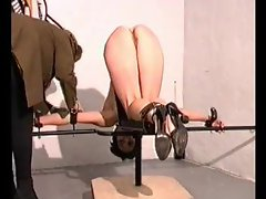 A rough and true caning is painful