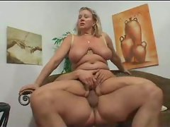 Riding cock is the sexy aunt with the big body