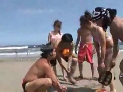 Beach wrestling with hot chicks