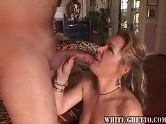 Milf in black nylons loves a hard dick