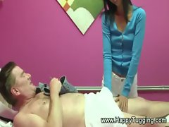 Hungry asian masseuse sucks for cash from her client