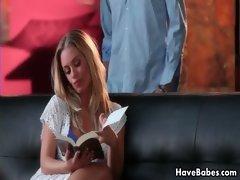 Hot blond babe Nicole Aniston got
