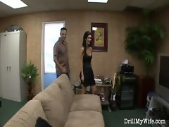 Naughty wife does a stranger and she loves it