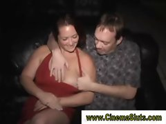 Fat ass chick gets a hammering from multiple dicks of all sizes
