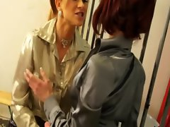 Sexy babe with hot ass gets lesbian treatment