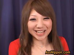 Ana Oshirino in horny Asian threesome