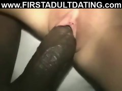 Interracial amateur sex dating with nice creampie
