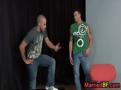 Cute married guy gets his first gay gay boys