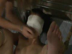 Lezdom nurse ravages slave with toy cock