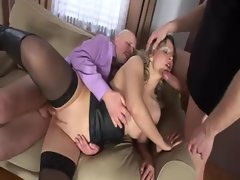Bum bisex triplet becomes horny with banging
