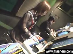 Saucy teen Asian Flash Her Knockers And Get Nailed video-34