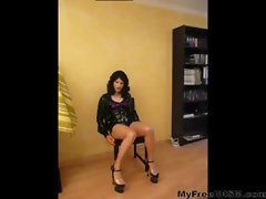 German Latex Transsexual Kittie Smoking And Obscene Talk bdsm bondage slave femdom domination