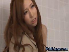 Ai Sayama Asian girl likes public