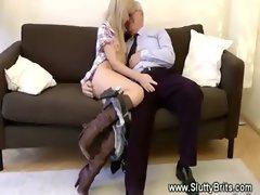 Older man is being pleased by 19 years old girlie