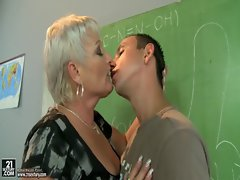 Attractive mature teacher