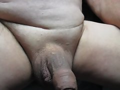65 year aged Grandpa playing with his penis again