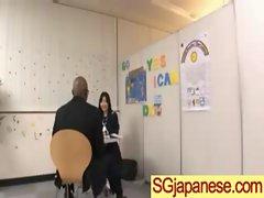 Jap Young lady In School Uniform Get Sex vid-16