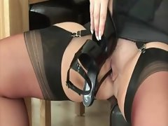 Watch experienced stockings english hoe