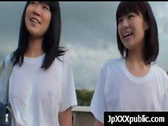 Attractive 19yo Seductive japanese cute chicks Fuck In Public video-20