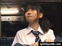Attractive 18 years old Seductive japanese cute chicks Fuck In Public video-27