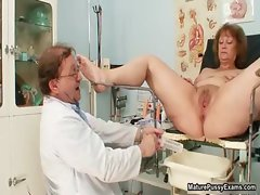 Lewd doctor screwing his experienced patient