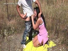 Sensual Cougar gets banged rough outdoor