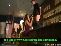 Isis Love superb dark haired fellatio and fondled